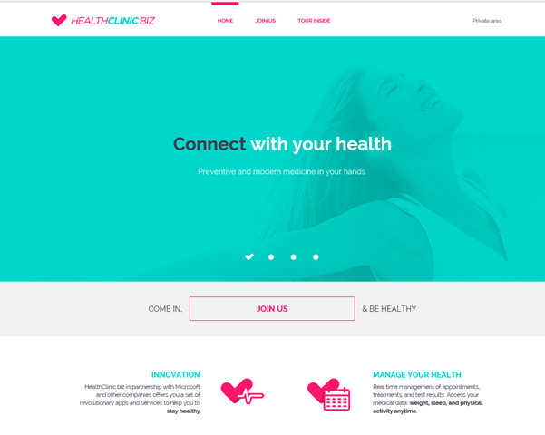 Public website for HealthClinic.biz
