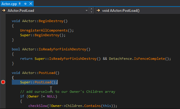 Unreal C++ code inside Visual Studio