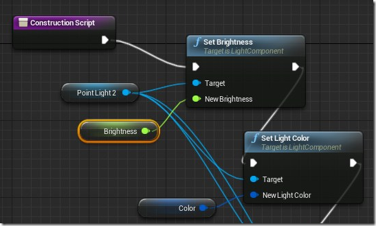 Visual scripting with Blueprints