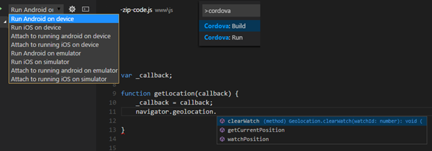 Debugging a Cordova app in Visual Studio Code