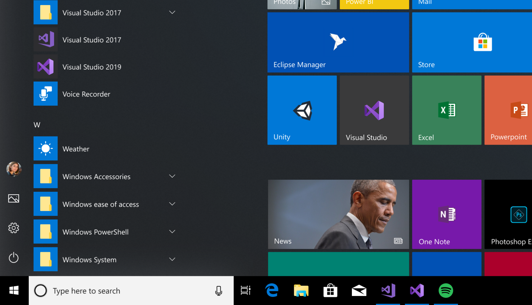 The new Visual Studio 2019 icon in the taskbar and start menu