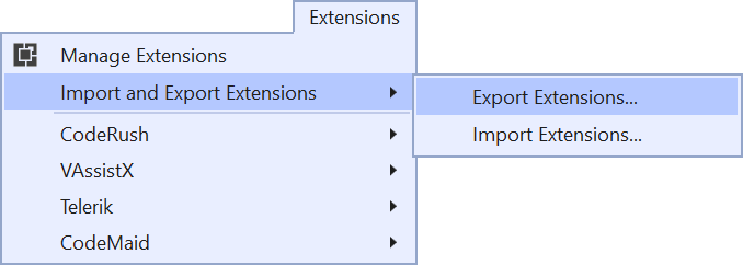 Use your favorite extensions with Visual Studio 2019
