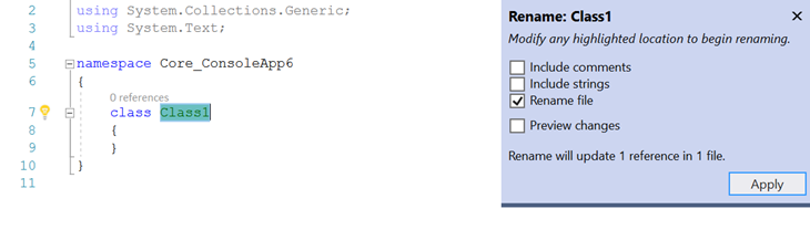 Easily rename a file when renaming interface, enum or class