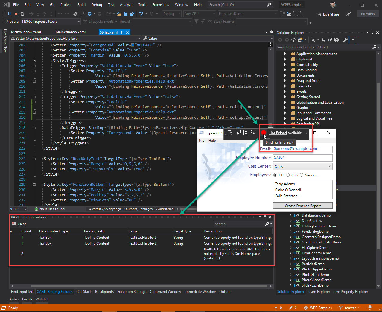 Image XAML Binding Failures 8211 VS 2019 Update 7 Preview 1