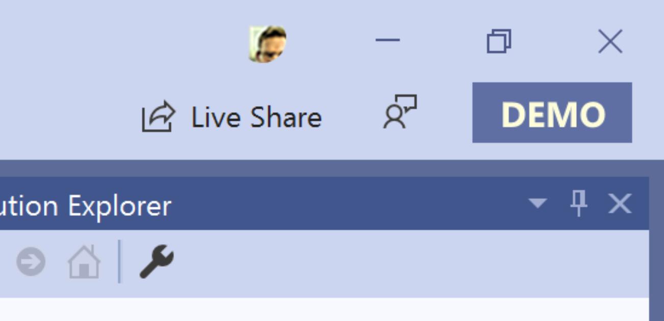 Use Visual Studio in Presentation Mode