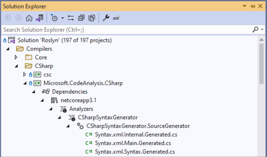 .NET 5.0 Source Generators in Visual Studio 2019 v16.9 Preview 3