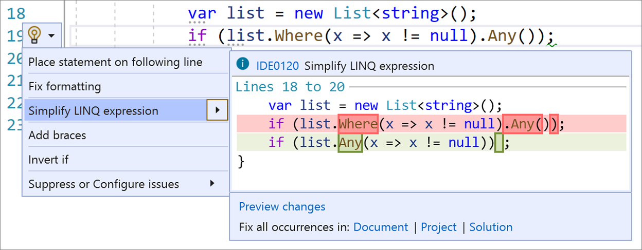 Simplify LINQ Expressions