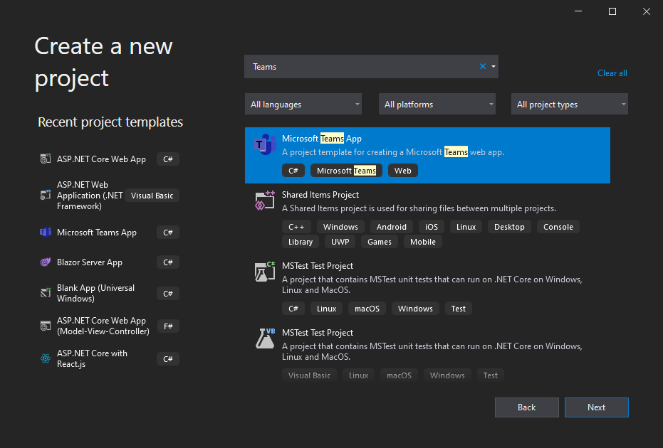 Build apps for Microsoft Teams with .NET