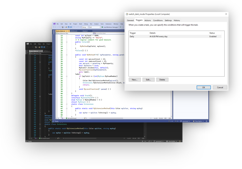 Visual Studio Personalization Sync with Sunset