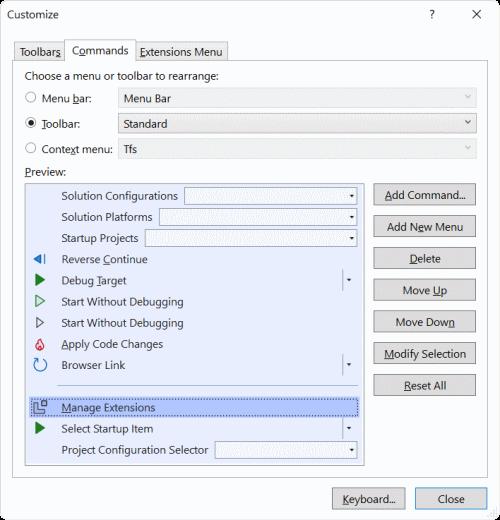 Image customize command