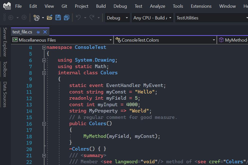 Image OneMonokai Visual Studio Theme