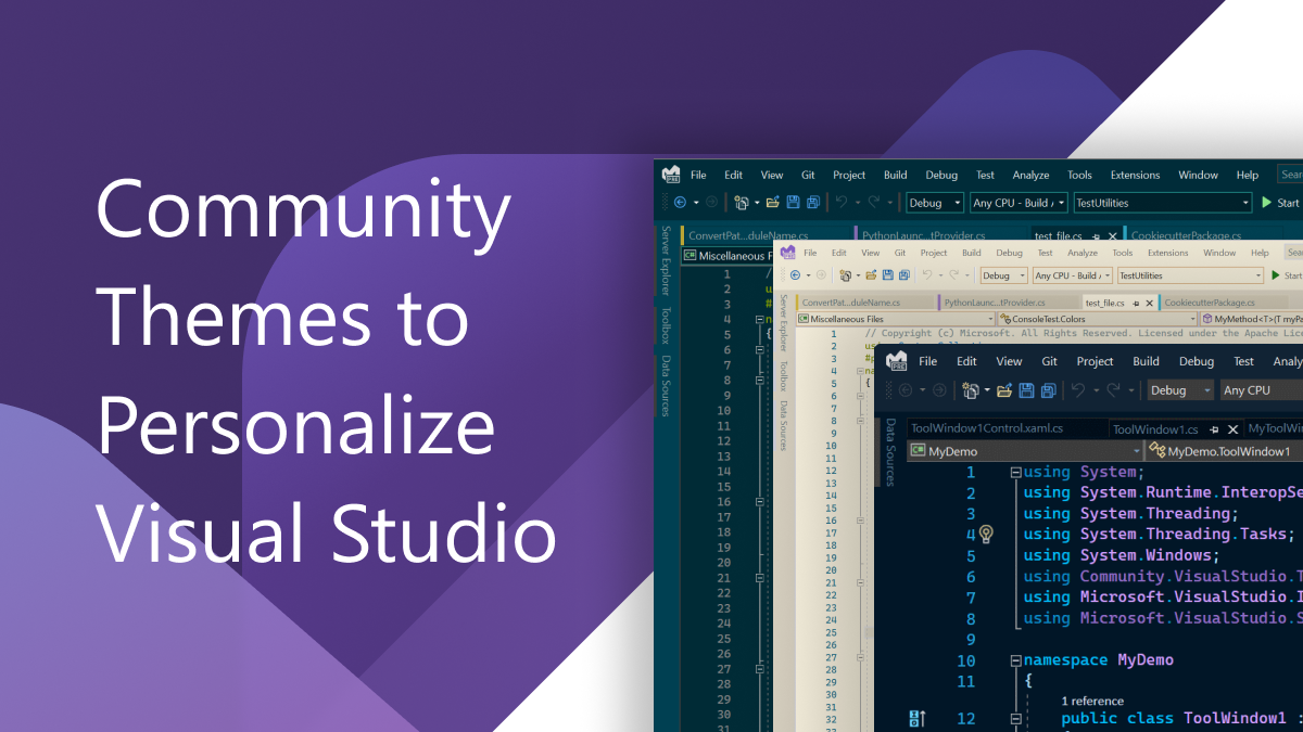 Image Personalize Visual Studio with Community Themes