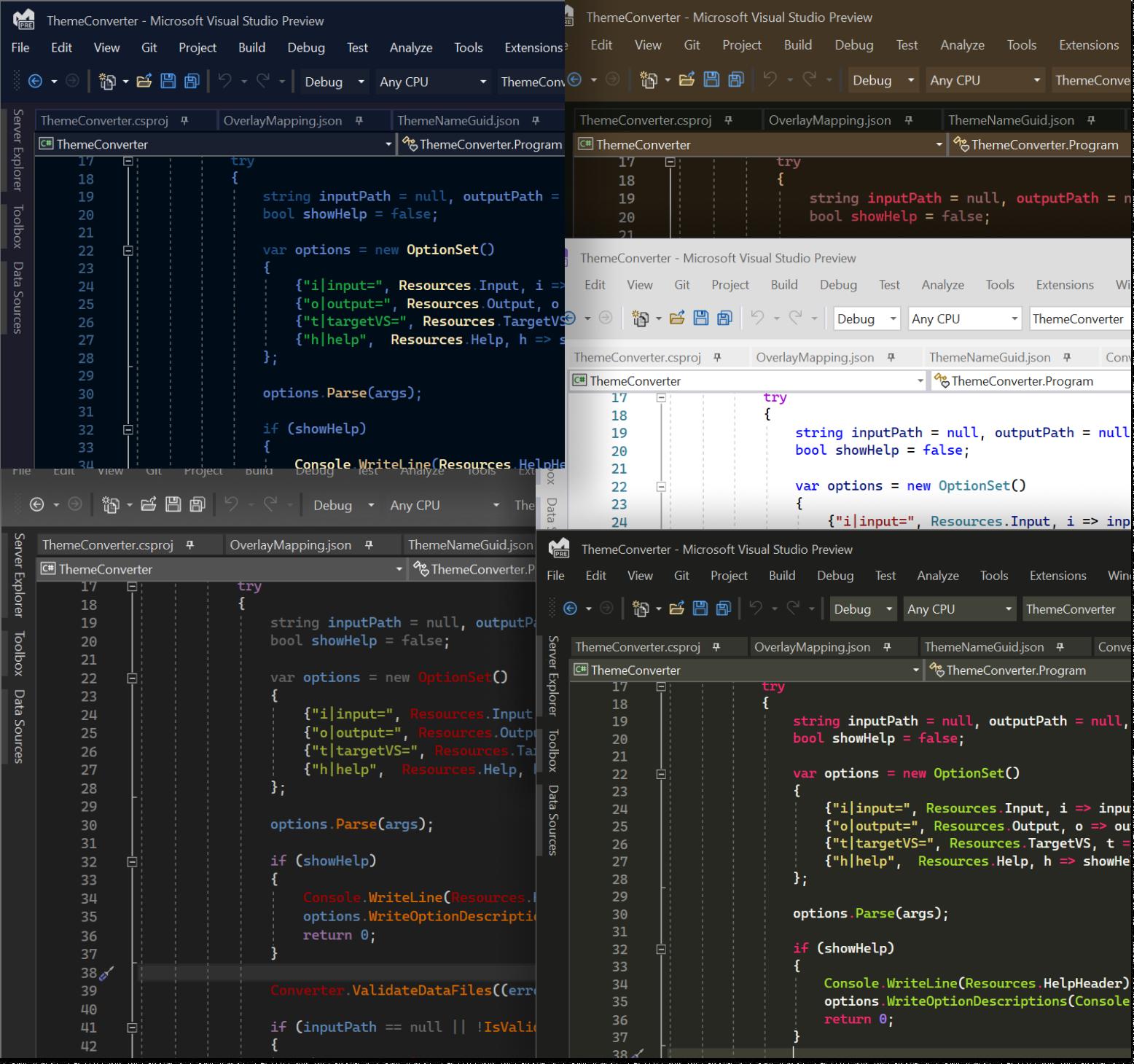 Image Visual Studio Theme Pack