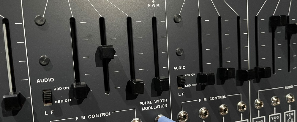 My ARP 2600, full of sliders to change the sound
