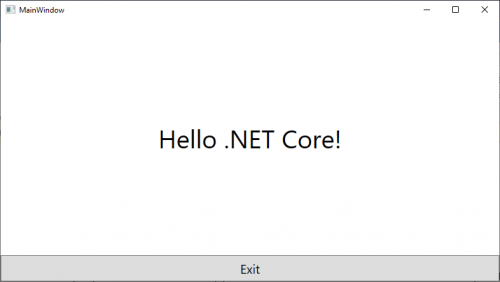 WPF on .NET Core App