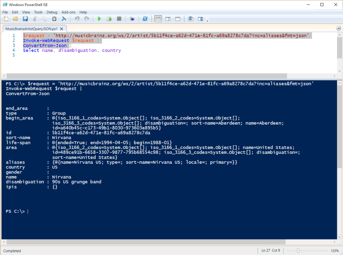 Playing with JSON and PowerShell | Scripting Blog