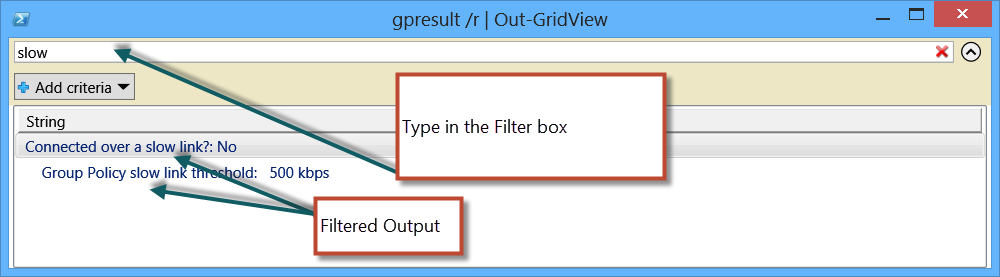 Image of filter box UI