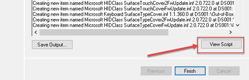 "Screenshot of the ""View Script"" button."