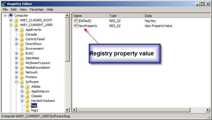 Image of Registry Editor