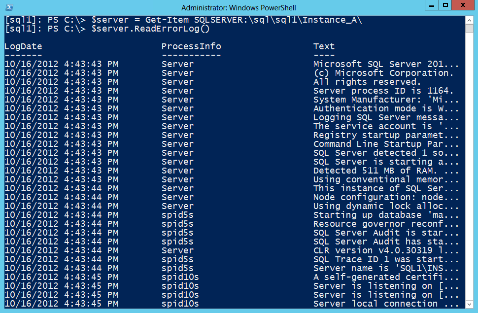 Use PowerShell to Parse SQL Server 2012 Error Logs