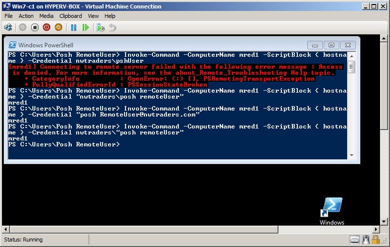 Configure Remote Security Settings for Windows PowerShell