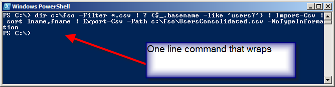 Image showing command produces no output