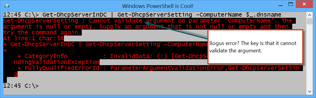 Image of command output