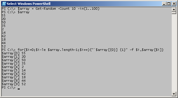 Find the Index Number of a Value in a PowerShell Array