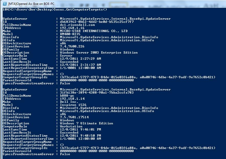 Use PowerShell to Perform Basic Administrative Tasks on WSUS