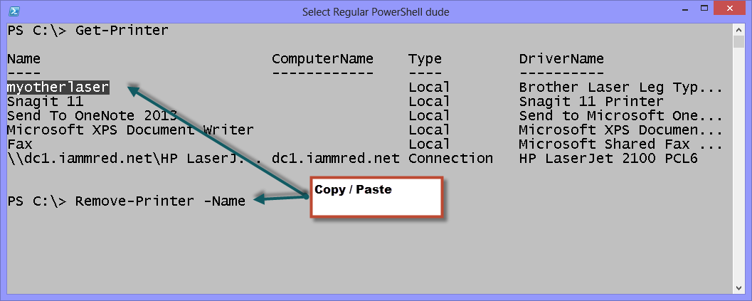 Use PowerShell in Windows 8 to Remove Printers | Scripting Blog