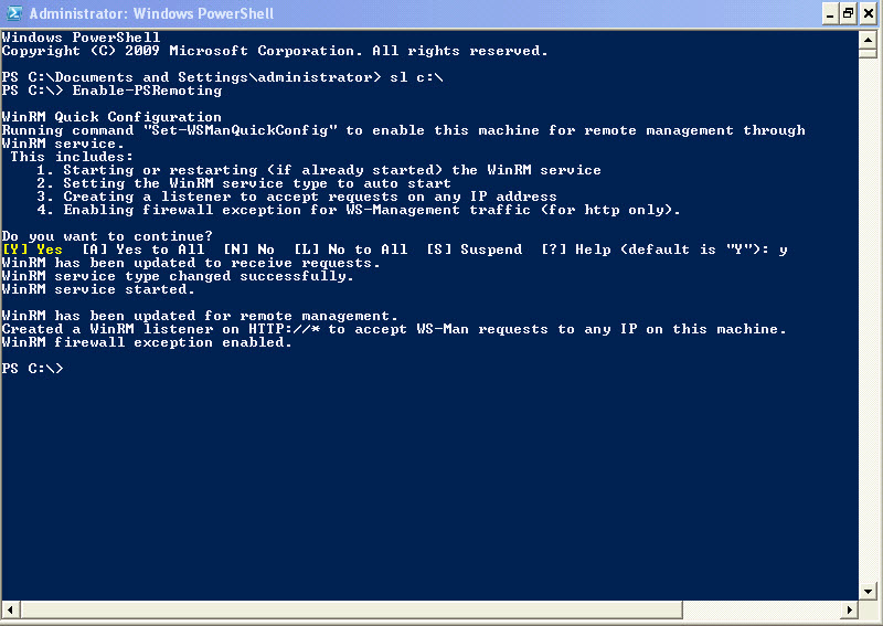 Enable PowerShell Remoting to Enable Running Commands