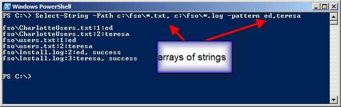 Image of searching folder and pattern matching