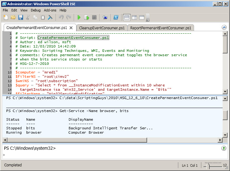 Use PowerShell to Monitor and Respond to Events on Your