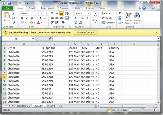 Image of destination spreadsheet