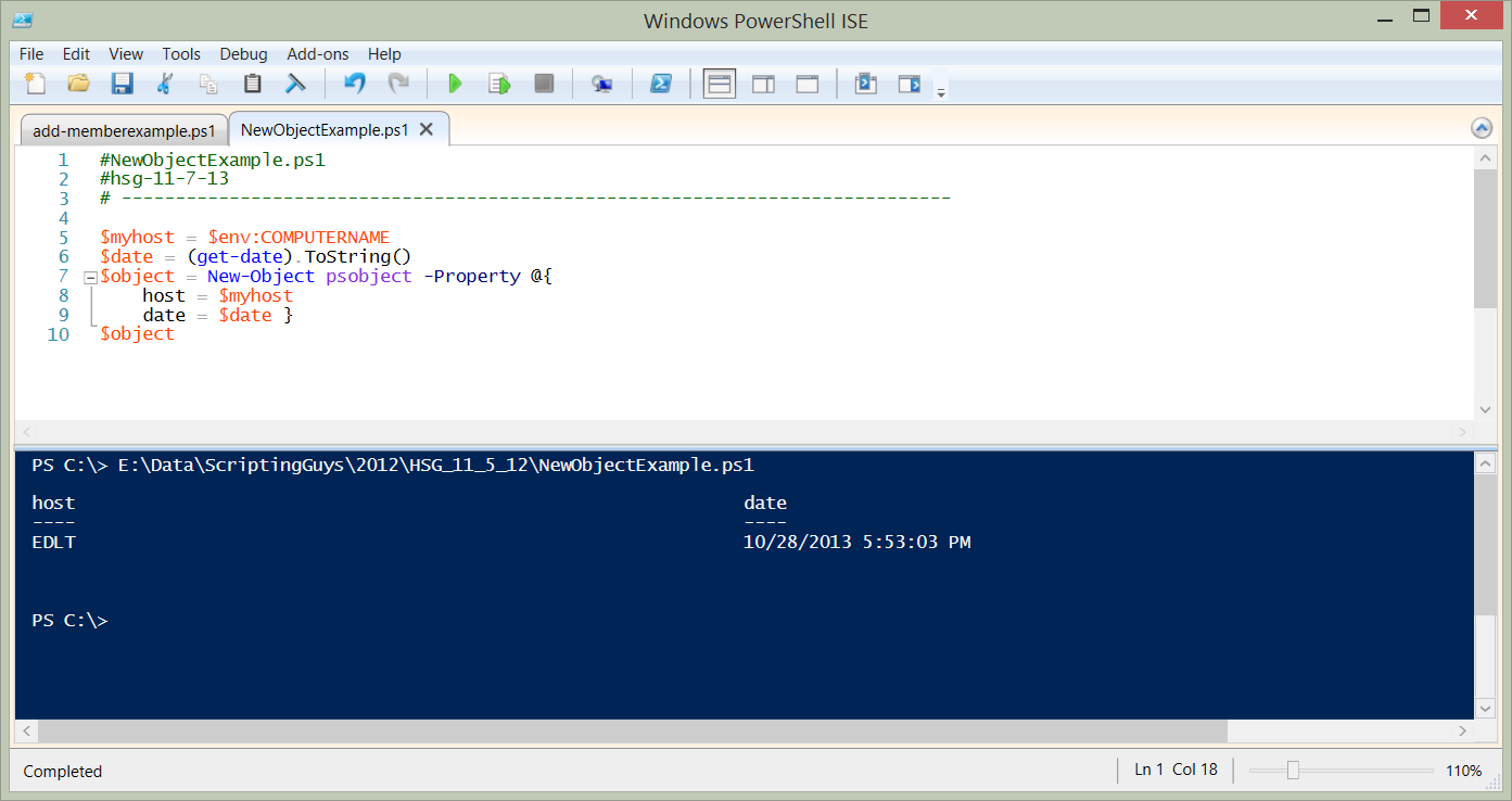 A PowerShell Object Lesson: Part 3 | Scripting Blog