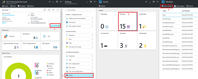 Upload the ZIP file to Azure Automation
