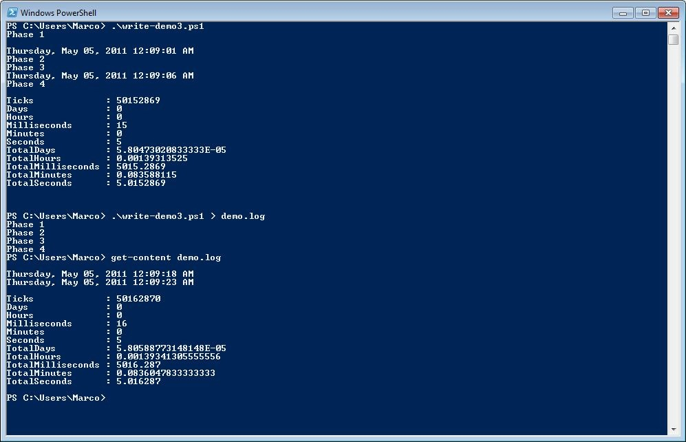 Writing Output with PowerShell | Scripting Blog