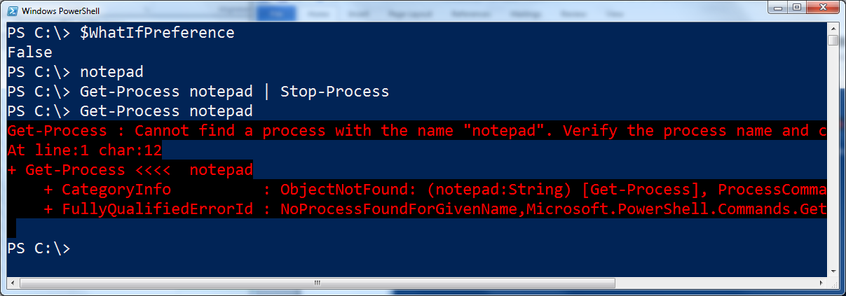 Image of $WhatIfPreference variable resetting to $False