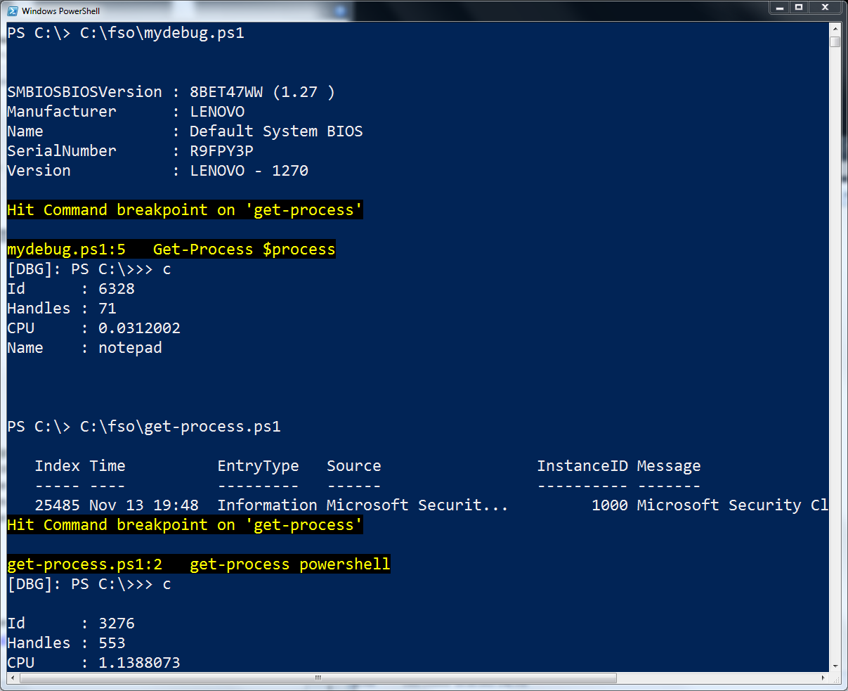 Use the PowerShell Debugger to Check Variable Values | Scripting Blog