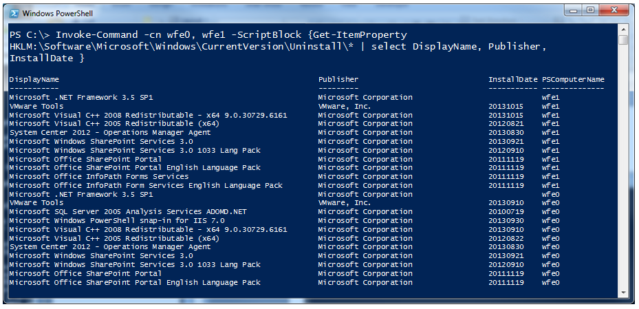 Use PowerShell to Find Installed Software | Scripting Blog