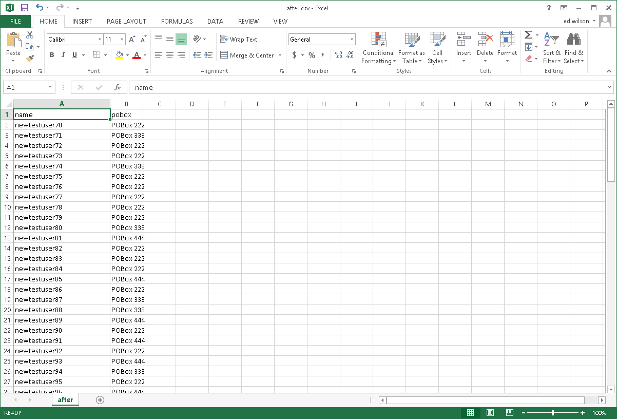 Image of spreadsheet