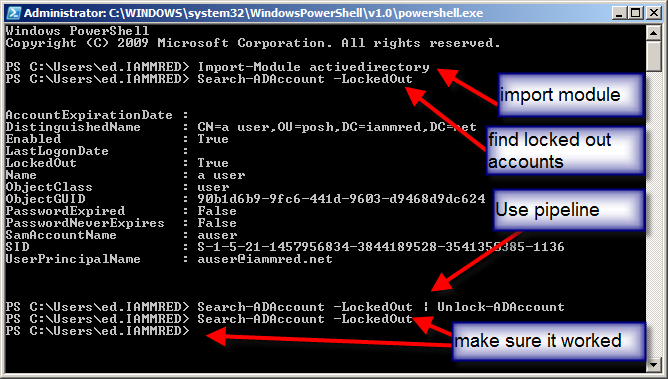 Use PowerShell to Find Locked-Out User Accounts | Scripting Blog