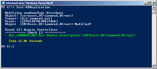 Image of command and associated output