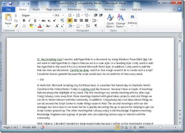 Image of a Office Word document
