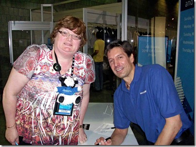 Photo of Scripting Wife and Mark Russinovich