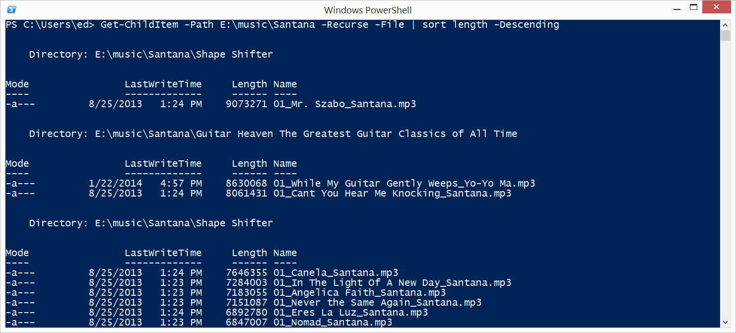 List Files in Folders and Subfolders with PowerShell