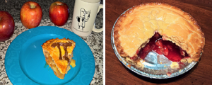 Image of apple and cherry pies
