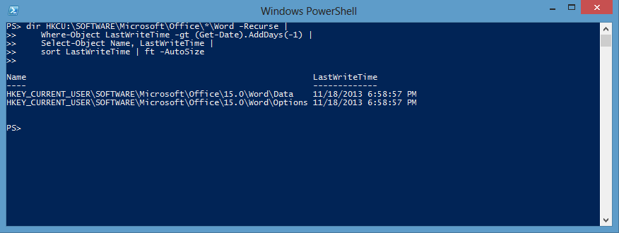 Leverage Registry Key Time Stamps via PowerShell | Scripting