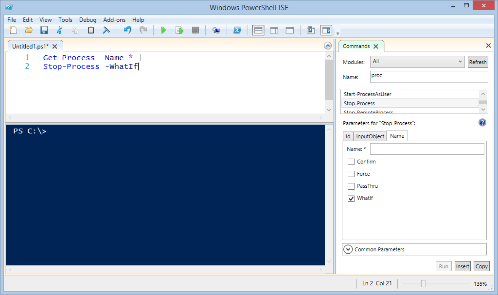 Image of Windows PowerShell ISE