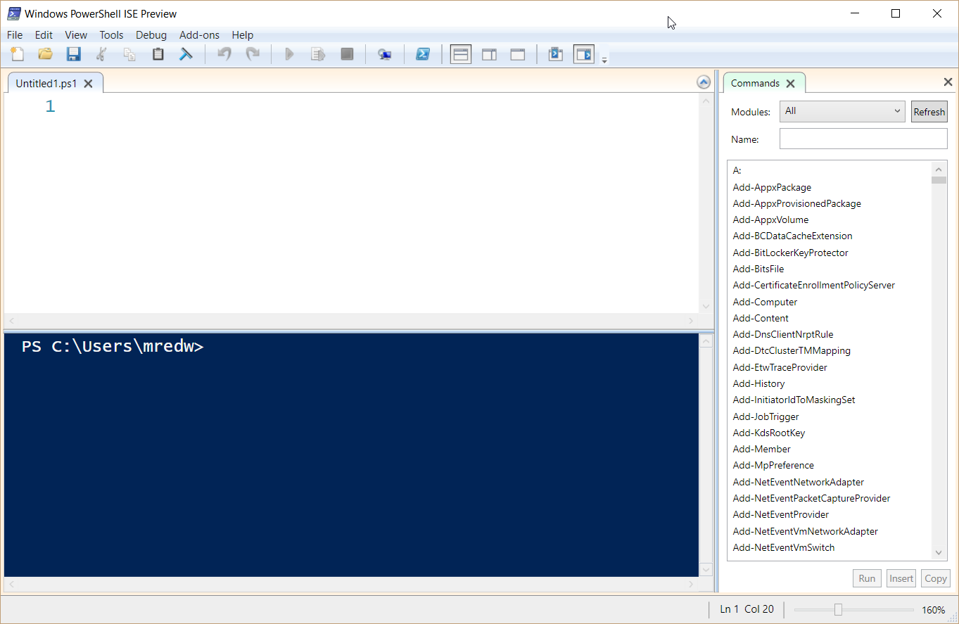 Playing with PowerShell ISE Preview | Scripting Blog